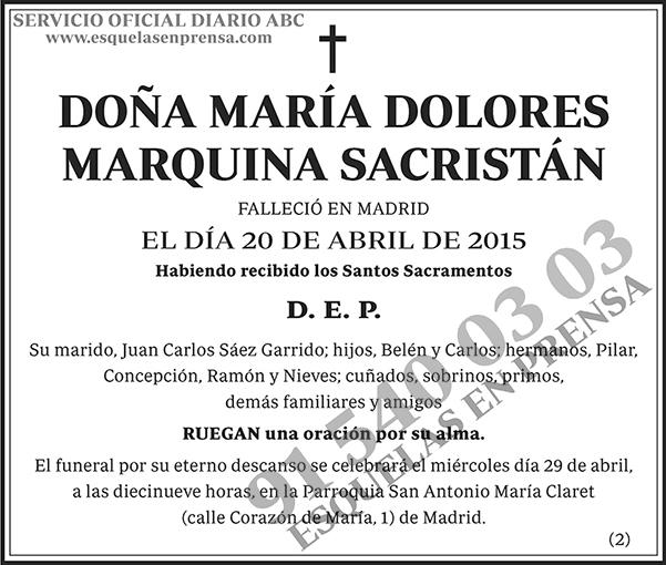 María Dolores Marquina Sacristán